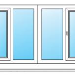 Лоджии ПВХ Одностворчатые профиль алюминиевый 58мм стеклопакет 32мм, Волгоград