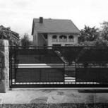 Откатные сварные ворота с поликарбонатом, Волгоград