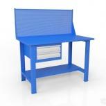 Стол слесарный с экраном и ящиком вст-Н 12/тп1-Э4, Волгоград