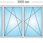 Лоджии Пластиковые Трехстворчатые профиль алюмин 70мм стеклопакет 32мм, Волгоград