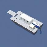 Катамаран грузопассажирский, катамаран для работ на воде, водная вахта, Волгоград