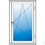 Окна пластиковые одностворчатые профиль 58мм стеклопакет 24мм, Волгоград