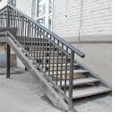 Двухкосоурная входная лестница из металла для магазина, Волгоград