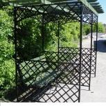 Садовая скамейка - арка металлическая (120х210 см), Волгоград