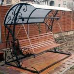 Качели садовые металлические цельносварные 4-местные, Волгоград