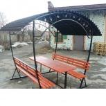 Открытая летняя беседка со столом и лавками 8-ми местная разборная., Волгоград