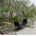 Подвесное металлическое кресло-качели с опорой., Волгоград