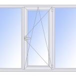Окна пластиковые трехстворчатые профиль  алюмин 58мм стеклопакет 24мм, Волгоград